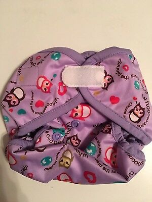 New in Package! Rumparooz One Size Diaper Cover Aplix Eco Owls Retired Print