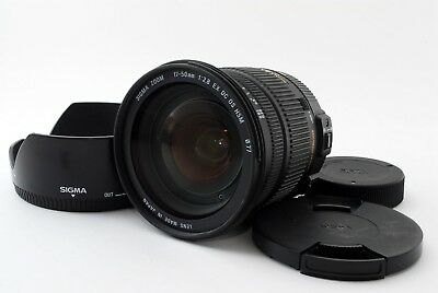 Sigma EX 17-50mm f/2.8 OS HSM DC Lens For Nikon w/Food From Japan [Exc]
