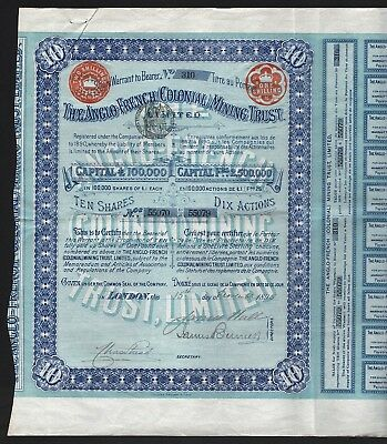 1895 South Africa: The Anglo-French (Colonial) Mining Trust, Limited (London)