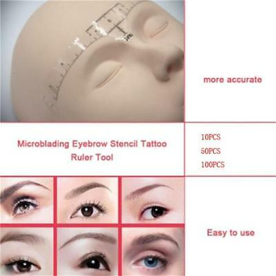Disposable Eyebrow Ruler Sticker Makeup Tattoo Shaper Stencil Measure Tool Y2