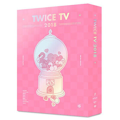 TWICE [TWICE TV 2018] DVD 4 DISC+5ea Photo Card+GIFT CARD+TRACKING K-POP SEALED