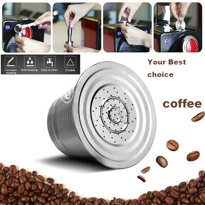 Reusable Stainless Steel Refillable Nespresso Coffee Capsule Strainer Pod Filter