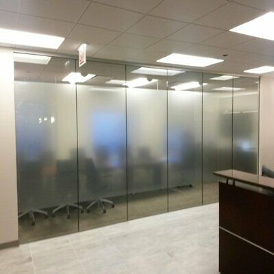 Frosted Window Film Etched Glass Vinyl Sticky Back Plastic Bubble Free