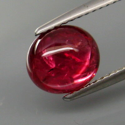 3.07Ct.Best Color! Natural Red Pink Spinel MaeSai,Thailand Oval Cabochon