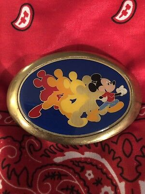 Vintage 1983 BBB Baron Disneyland Mickey Mouse Belt Buckle Solid Brass