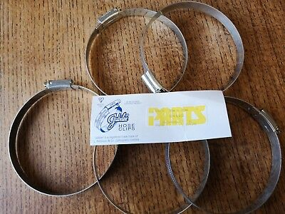 Genuine Jubilee Clips  Mild Steel Hose Clamp Worm Drive X5 90 To 120 Mm