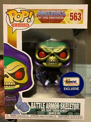 Funko Pop! #563 Metallic Battle Armor Skeletor (Gemini Collectibles Exclusive)