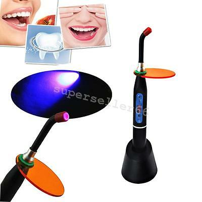 portable Dental 5W Wireless Cordless LED Curing Light Lamp 1500mW/cm² black CE