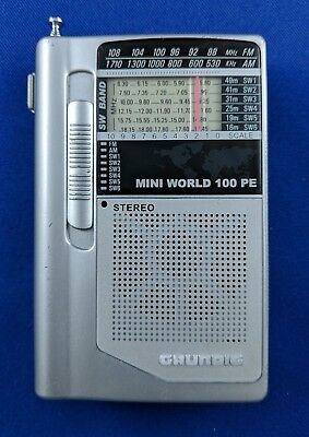 Grundig Mini World 100 PE Pocket AM FM Shortwave Radio