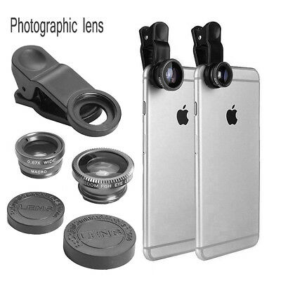 3-1 Fish Eye+Wide Angle+Macro Clip for Mobile Phone Tablet On Camera Lens Sets