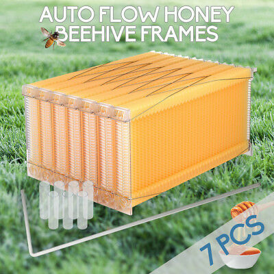 Upgraded Auto Flow Honey Beekeeping Beehive Bee Comb Hive Frames Harvesting 7PCS