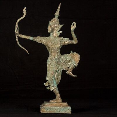 Antique Thai Style Bronze Thai Rama - Avatar of Vishnu - 38cm/15""