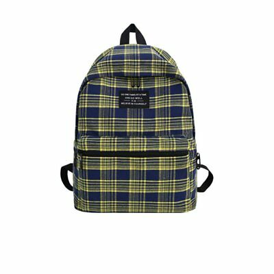 Backpack Plaid Lady Travel Backpack Fashion Casual Shoulder Bag 77W