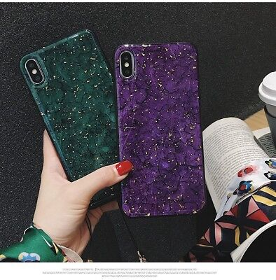 Glitter Marble Fancy Shine TPU soft Shell Cover Skin Case For iPhone for Huawei