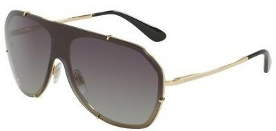 8d9e709d6461 DOLCE   GABBANA DG2162 Sunglasses Gold 02 8G Grey Gradient 37mm ...