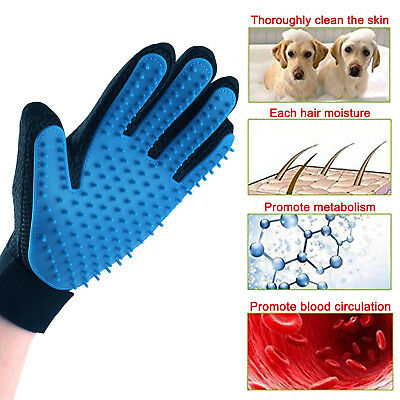 [Upgrade Version] Pet Grooming Glove Gentle Dog Deshedding Brush Massage Tool US