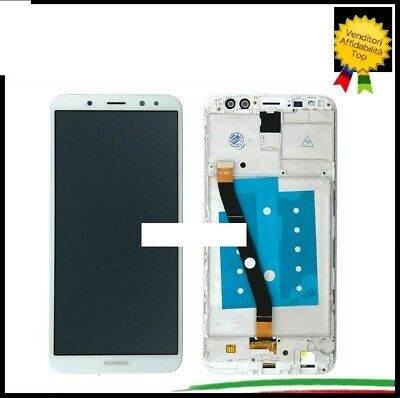 Lcd Display Huawei Mate 10 Lite Rne-L21 Frame Touch Bianco Kit Smontaggio