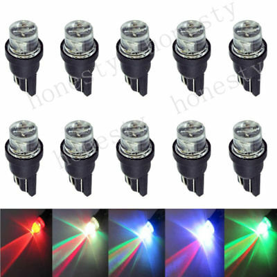 10X T10 W5W 194 168 501 LED Multi-color Red Green Blue flash CAR LIGHT BULBS 12V