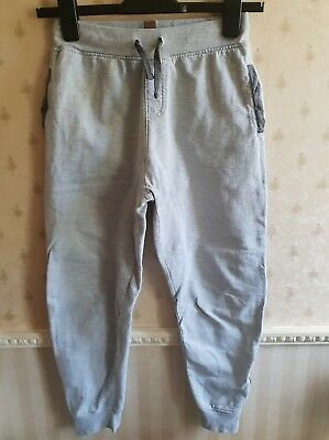 Nice Comfortable Boy's Light Grey Zip Hem Tracksuit Jogging Bottoms, sz 11 years