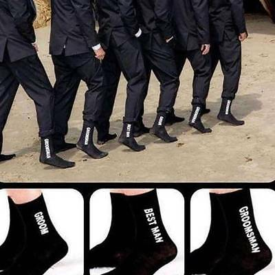 Wedding Party Sock Groom Best Man Groomsman Letter Socks  Combed Cotton Socks