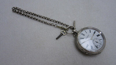 Leicester, Twickenham & Co. Solid Silver Pocket Watch