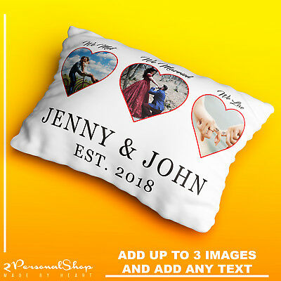 Personalised Photo Pillowcase Cushion Pillow Case Cover Custom Children Hearts