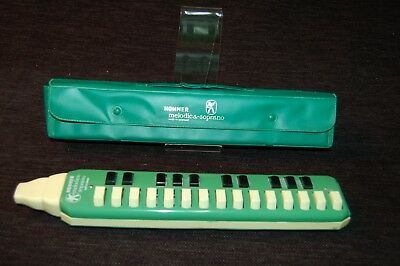 Vintage Hohner Harmonica Melodica Soprano Made Germany In Carry Case 25 Keys