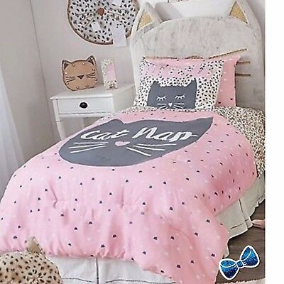 Justice Girls Cat Nap  5-Piece Bed in a bag Twin Size New in Package