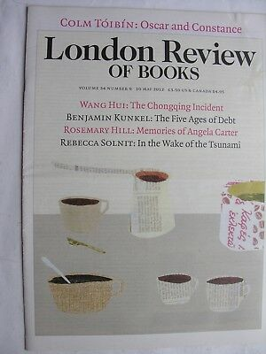 LONDON REVIEW OF BOOKS May 10 2012 Oscar Wilde Fukushima Tsunami Cindy Sherman