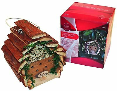 Novelty Hanging Wooden Garden Insect House Bug and Bee Hotel