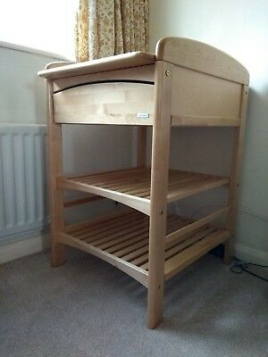 John Lewis 'Anna' Changing Table with drawer + shelves - Solid Wood