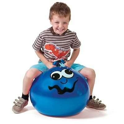 Junior Space Hopper Blue Funny Face Kids Childs Boys Garden Outdoors Bouncy Toy