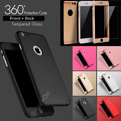 Case For iPhone 8 Plus Hybrid Hard Front Back Shockproof Heavy Duty 360 Cover