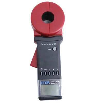 Digital Clamp On Ground Earth Resistance Tester Meter ETCR2100+ Ground Resistant