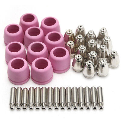 68Pcs Plasma Cutter Kits Guide Tip/Nozzle Electrode Shield Cup Fit AG60/SG55