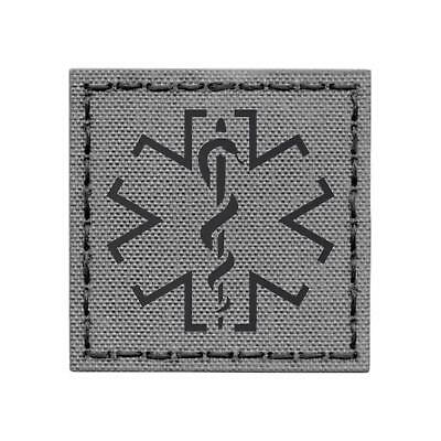 IR star of life EMS medic wolf gray infrared morale tactical 2x2 patch