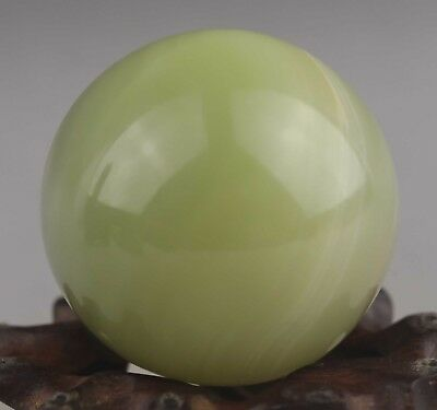 Chinese old natural jade hand-carved statue jade ball 1.8 inch