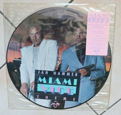 MIAMI VICE - GLENN FREY - JAN HAMMER nice PICTURE DISC rarest USA IMPORT 1986