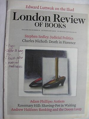 LONDON REVIEW OF BOOKS Feb 23 2012 David Shrigley Homer Iliad Russian Elections