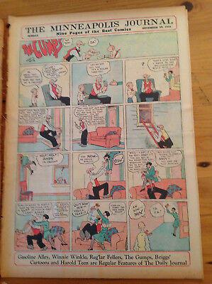 The Minneapolis Journal 1928-12-30 (8 pages) Winnie Winkle, Gas Alley, Gumps