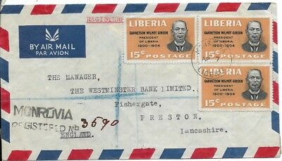 Interesting Liberia Cover with Three Stamps, No Date