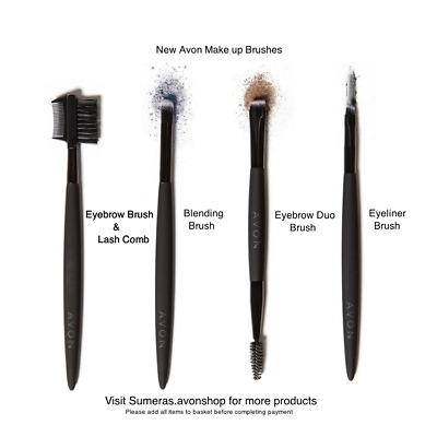 AVON Various Makeup Brushes Eyeliner~Blending~Eyebrow Duo Brushes available