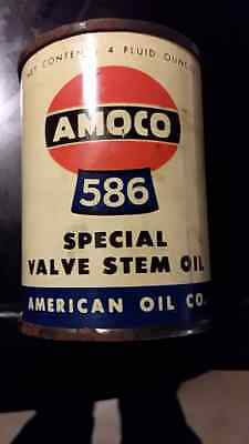 Vintage Amoco 586 Special Valve Stem Oil Bank Can American Oil Co Advertising