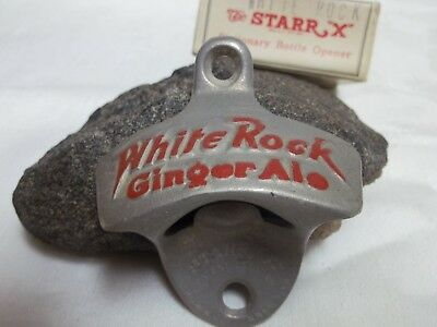 White Rock Ginger Ale mounting stationary bottle opener with orginal Starr X box