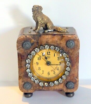 Antique German Travel Clock  About a Hundred Years Old