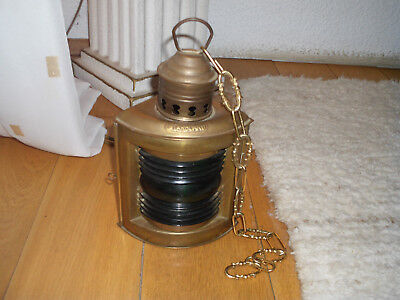 Schiff Lampe Messing Positionslampe Starboard