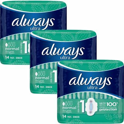 Always Ultra Normal Serviettes Hygiéniques Tampons avec Ailes Taille 1