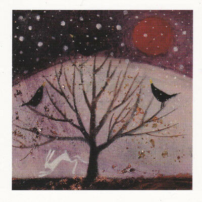 PAGAN WICCAN GREETING CARDS Winter Solstice CELTIC HARE Goddess CATHERINE HYDE