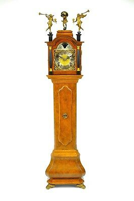 Superb Vintage WUBA Mid Century Miniature grandfather clock !