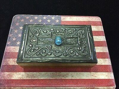 Antique Egyptian Revival Box; ca. 1920's; wooden box with scarab accent